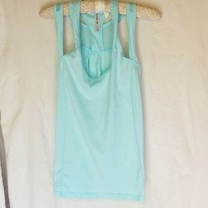 Gym/Yoga top.. Aqua color size L